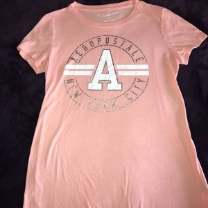 Peach graphic tee